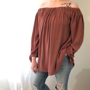 Wishlist Tops Brand Over The Shoulder Blouse Poshmark
